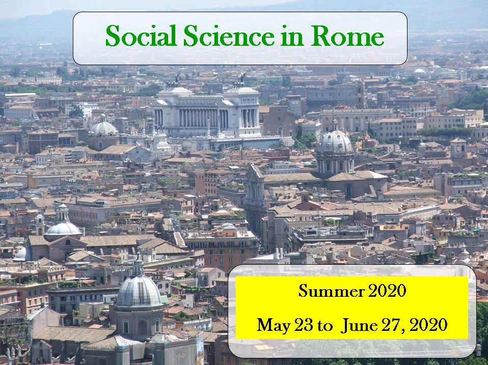First informational meeting for Social Science in Rome Summer 2020 Program